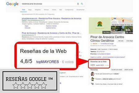 Reseñas Google de topMAYORES